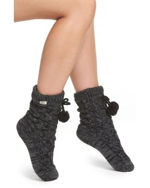 Lyst - Ugg Ugg Fleece Lined Socks in Black