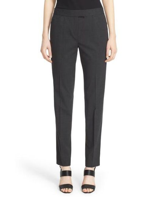Lafayette 148 New York | Gray 'irving' Stretch Wool Pants | Lyst