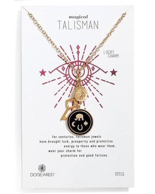 Dogeared | Metallic Talisman Pendant Necklace | Lyst