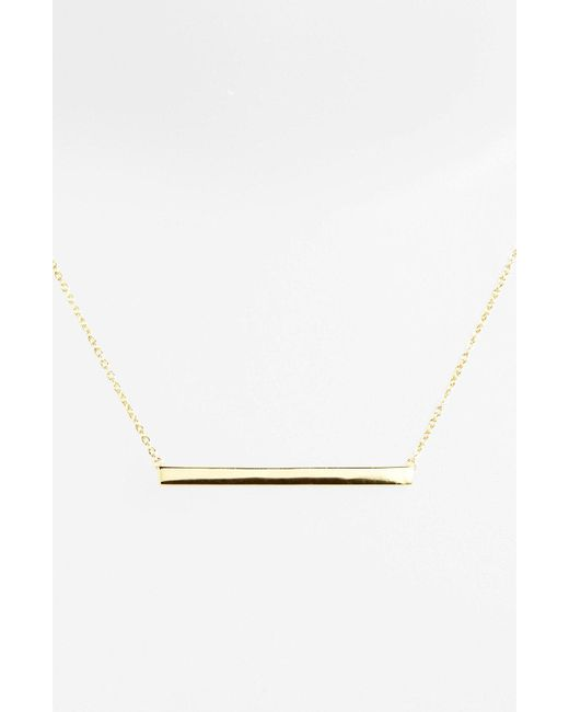 Argento Vivo - Metallic Bar Pendant Necklace - Lyst