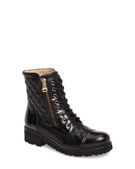 Ron White Tiffany Water Resistant Combat Boot In Black Lyst