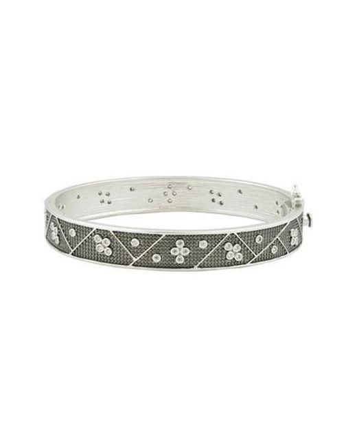 Freida Rothman - Metallic Industrial Finish Bangle Bracelet - Lyst