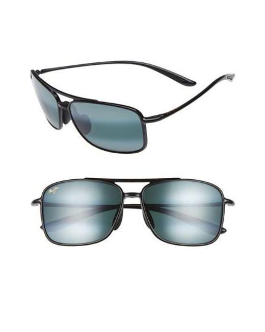 Maui Jim | Gray Kaupo Gap 61mm Polarizedplus2 Sunglasses - Gloss Black/ Neutral Grey for Men | Lyst