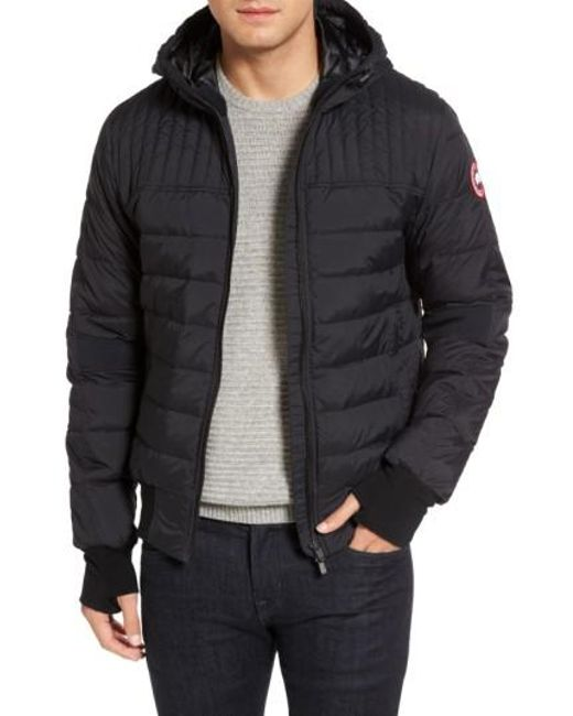 Lyst - Canada goose Cabri Hooded Down Jacket in Black for Men ...