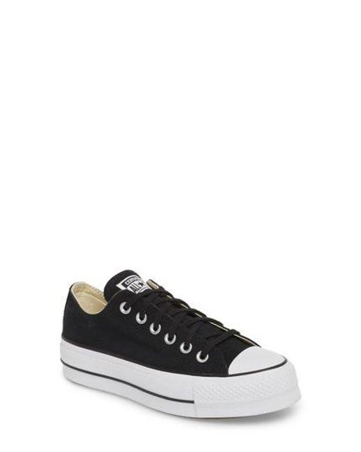 Lyst - Converse Chuck Taylor All Star Platform Sneaker in Black a89f19943