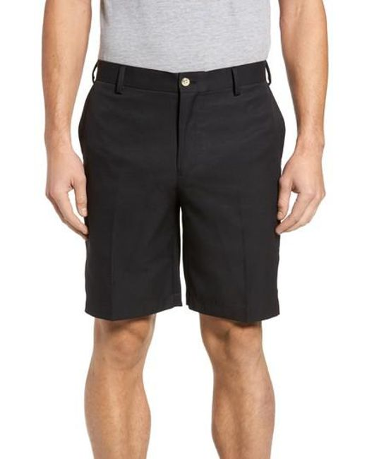 Peter Millar - Blue 'salem' Flat Front Performance Shorts for Men - Lyst