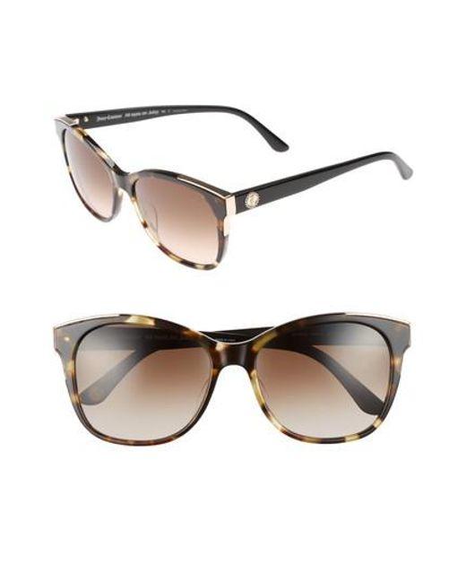 Juicy Couture | Black Label 56mm Cat Eye Sunglasses - Khaki Havanna Black | Lyst