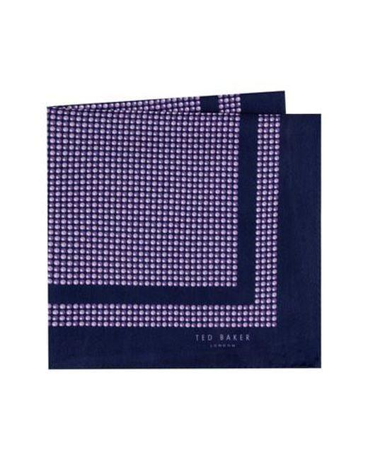 Ted Baker - Purple Micro Dot Silk Pocket Square for Men - Lyst