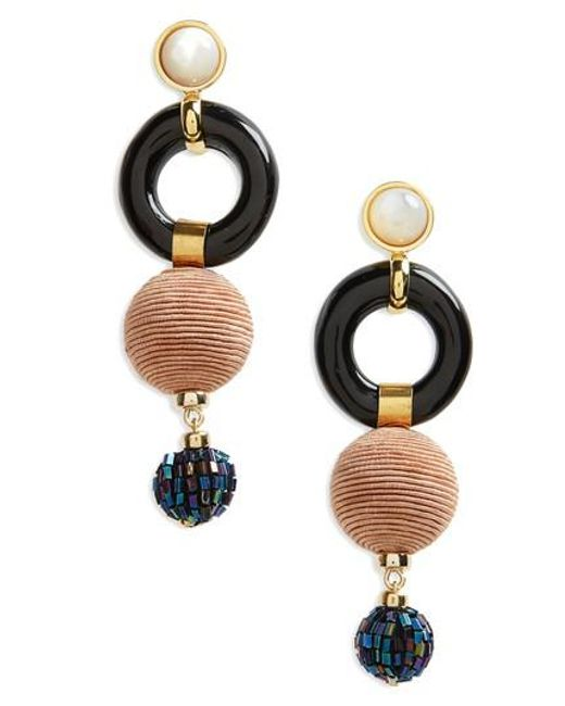 Lizzie Fortunato - Black Loop Chain Earrings - Lyst