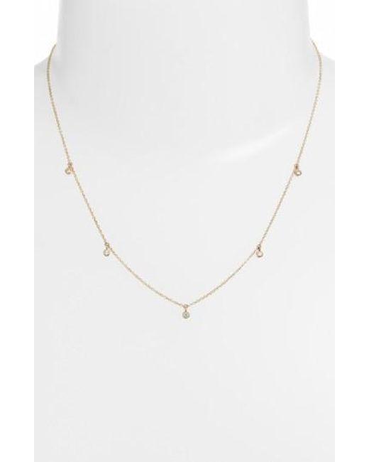 Zoe Chicco | Metallic Diamond Strand Necklace | Lyst