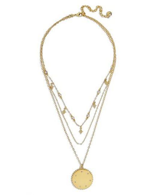 BaubleBar - Metallic Andromeda Layered Pendant Necklace - Lyst