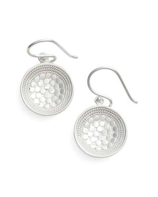 Anna Beck - Metallic Dish Drop Earrings - Lyst