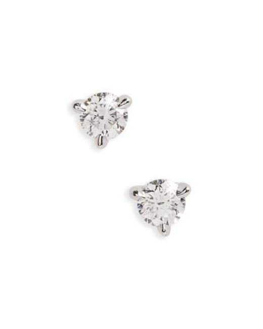 Kwiat | Metallic 0.25ct Tw Diamond & Platinum Stud Earrings | Lyst