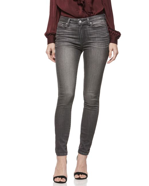 PAIGE - Gray Hoxton Transcend High Waist Skinny Jeans - Lyst