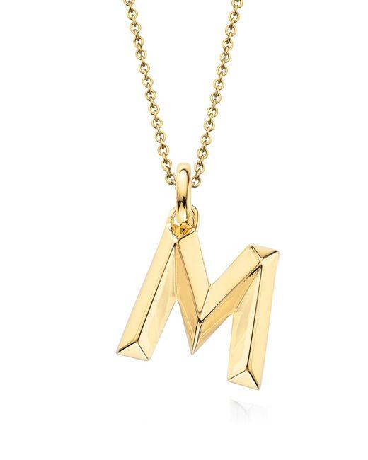 Monica Vinader - Metallic Alphabet Pendant - Lyst