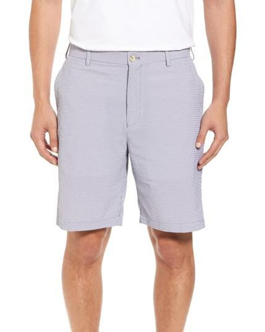 Peter Millar - Blue Apex Pinstripe Seersucker Shorts for Men - Lyst