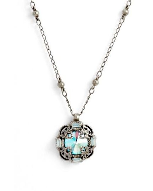 Sorrelli - Metallic Allium Crystal Necklace - Lyst