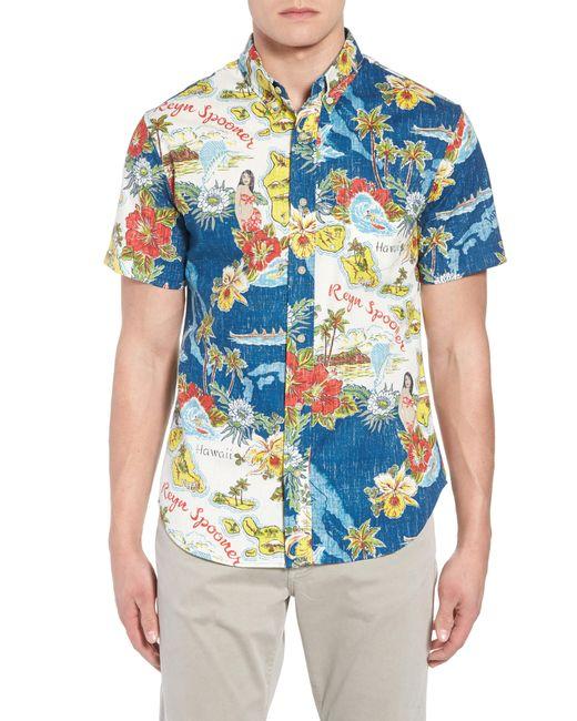 Reyn Spooner - Blue Status Oceanic Tailored Fit Print Sport Shirt for Men - Lyst