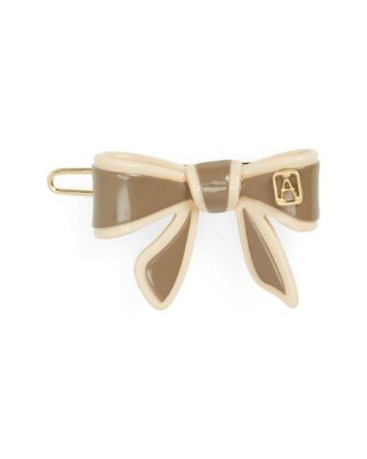 Alexandre De Paris - Gray 'mini Tenderly' Bow Barrette - Lyst