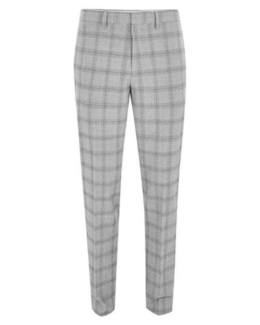 Topman Gray Check Suit Trousers For Men Lyst