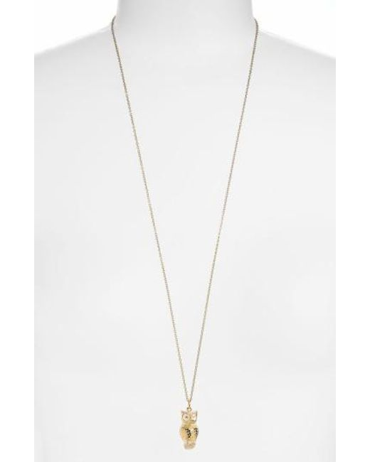 Anna Beck | Metallic 'animals' Long Owl Pendant Necklace | Lyst