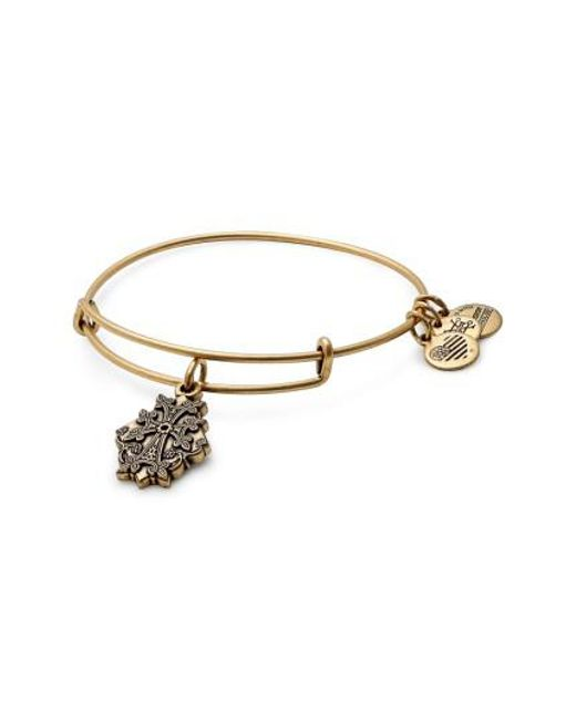 ALEX AND ANI | Metallic Armenian Cross Adjustable Wire Bangle | Lyst