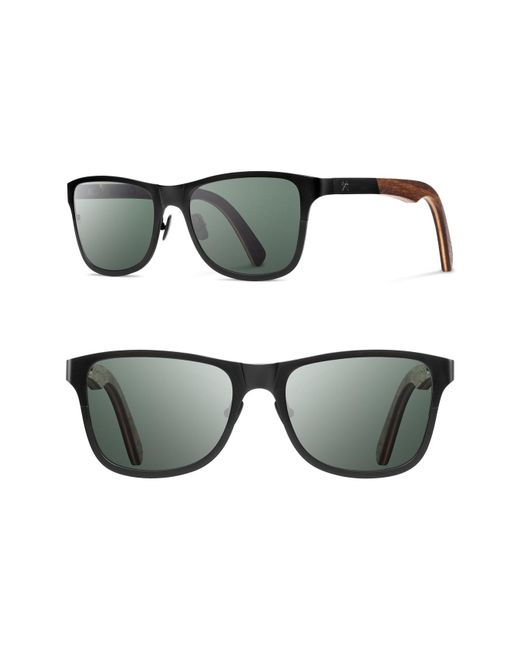 Shwood - Black 'canby' 54mm Polarized Titanium & Wood Sunglasses for Men - Lyst