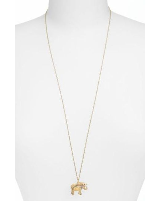Anna Beck - Metallic Jewelry That Makes A Difference Elephant Pendant Necklace - Lyst