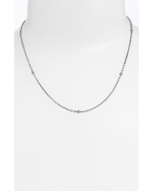 Lagos - Metallic Caviar Station Chain Necklace - Lyst