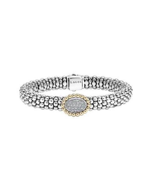 Lagos | Metallic 'caviar' Diamond Bracelet | Lyst