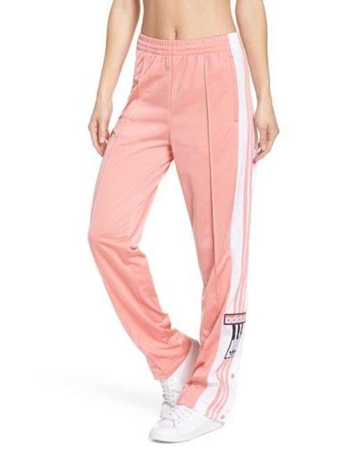 lyst adidas originali adibreak scavezzacollo di pantaloni della tuta rosa