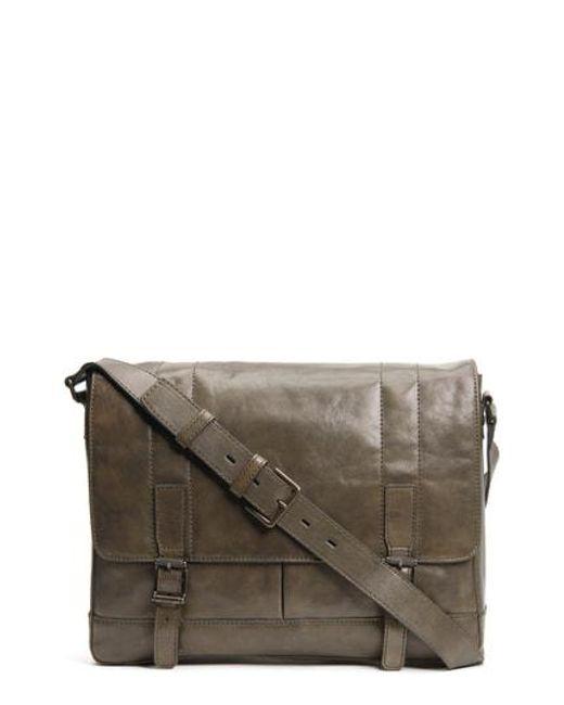 Frye - Brown 'oliver' Leather Messenger Bag - for Men - Lyst