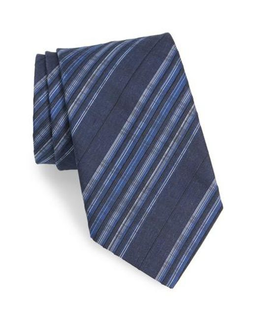 John Varvatos - Blue Plaid Silk Tie for Men - Lyst