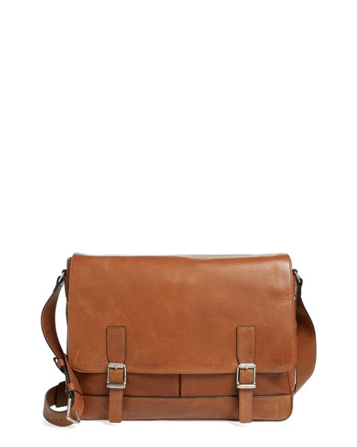 Frye - Brown Oliver Leather Messenger Bag for Men - Lyst
