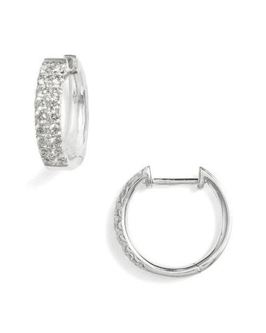 Bony Levy Metallic Kiera Small Diamond Hoop Earrings Nordstrom Exclusive Lyst
