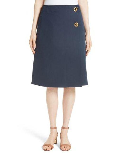 Tory Burch - Blue Ruth Skirt - Lyst
