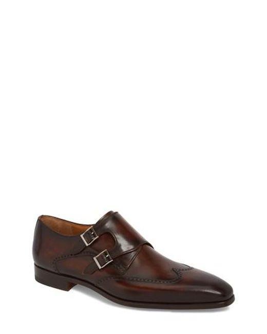 MagnanniMen's Dixon Wingtip Double Strap Monk Shoe 6Sgksf7