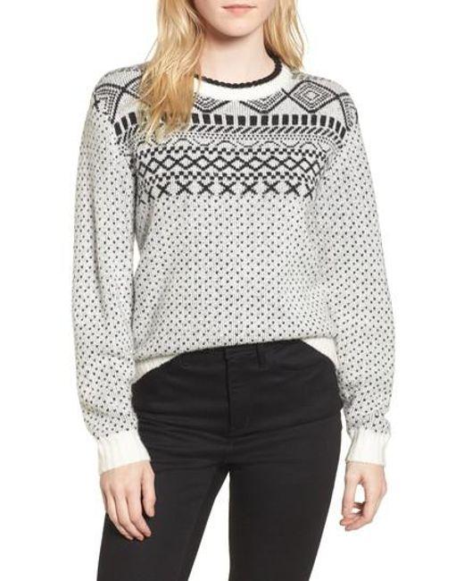 Treasure & bond Fair Isle Sweater in White | Lyst
