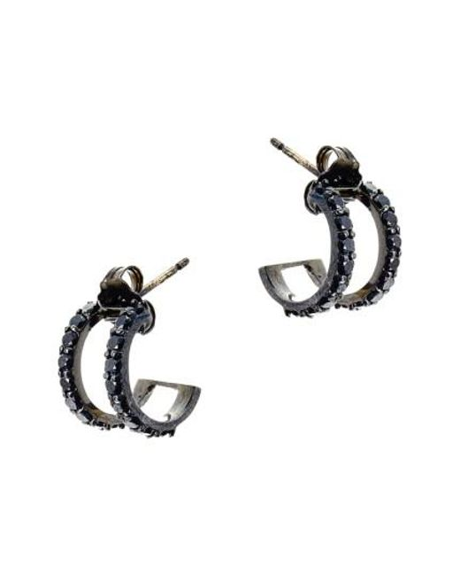 Lana Jewelry | Black 'reckless' Hoop Earrings | Lyst