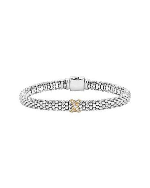 Lagos - Metallic Caviar 'signature Caviar' Diamond Rope Bracelet - Lyst