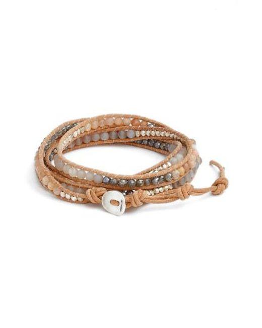 Chan Luu - Brown Matte Sunstone 5-wrap Bracelet - Lyst