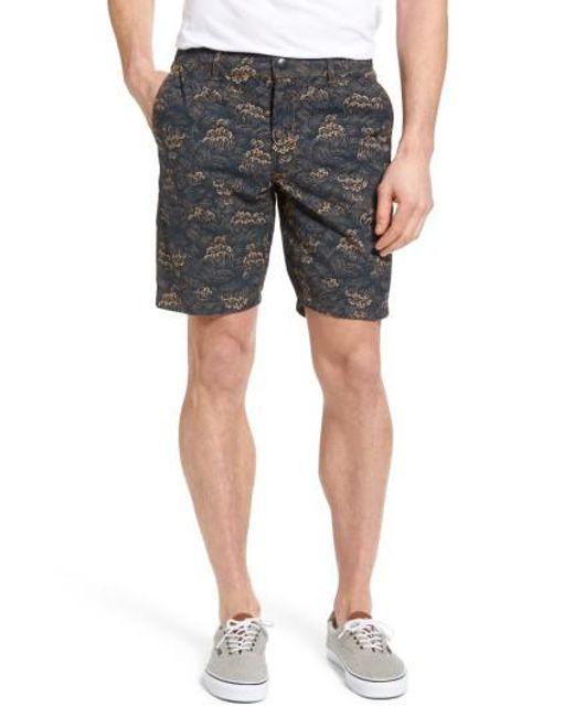 Jeremiah | Black Big Surf Print Hybrid Shorts for Men | Lyst