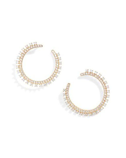 Nordstrom - Metallic Pave Open Starburst Hoop Earrings - Lyst