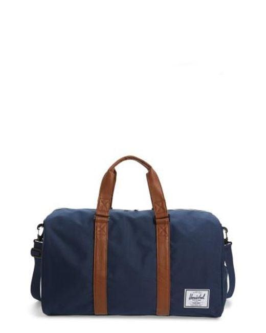 Herschel Supply Co.   Blue 'novel' Duffel Bag for Men   Lyst