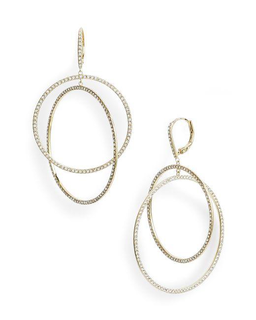 Nordstrom - Metallic Pave Intertwined Circle Hoop Earrings - Lyst