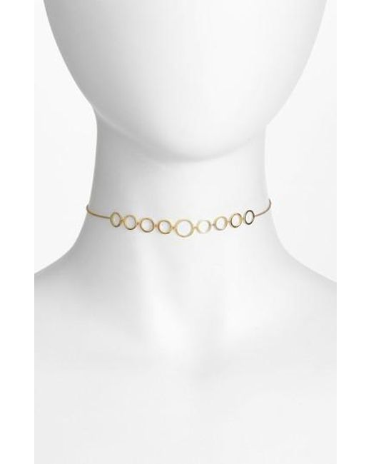Bony Levy | Metallic Geo Circle Necklace (nordstrom Exclusive) | Lyst
