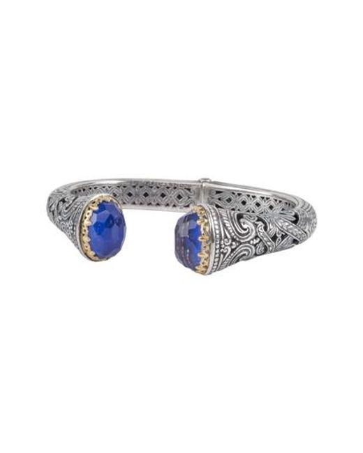 Konstantino | Metallic Andromeda Lapis Lazuli Hinge Cuff | Lyst
