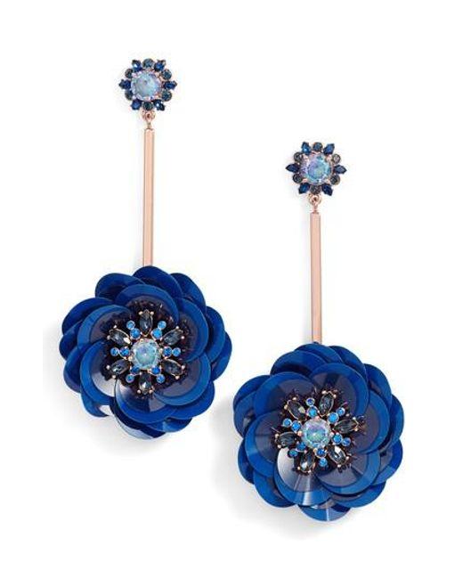 Kate Spade | Blue Snowy Nights Sequin Drop Earrings | Lyst