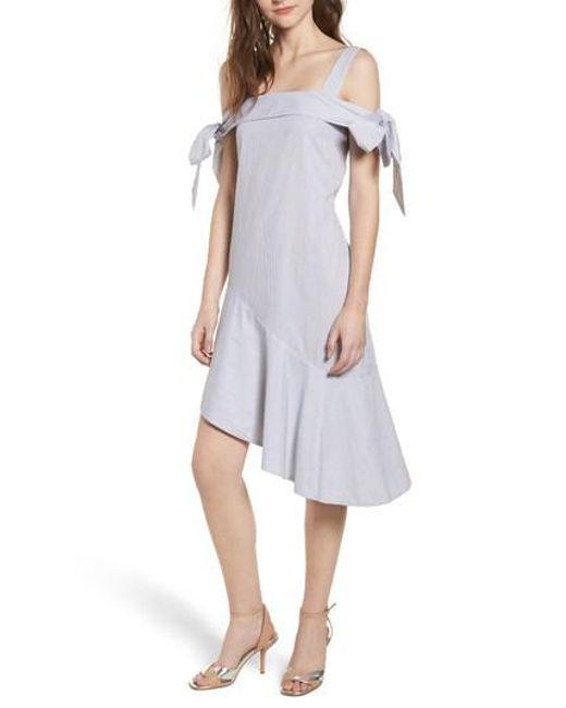 Elliatt - Multicolor Tone Cold Shoulder Dress - Lyst