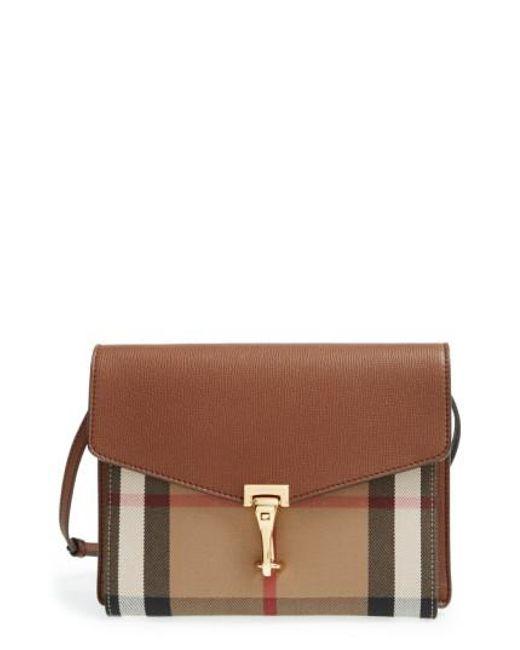 Burberry | Brown Small Macken Cross-Body Bag | Lyst